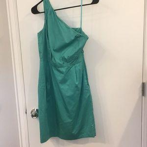 Jcrew one shoulder dress size 0